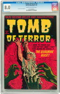 Golden Age (1938-1955):Horror, Tomb of Terror #2 (Harvey, 1952) CGC VF 8.0 Cream to off-whitepages....