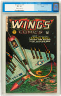 Golden Age (1938-1955):War, Wings Comics #114 Circle 8 pedigree (Fiction House, 1951) CGC VF+8.5 Off-white to white pages....