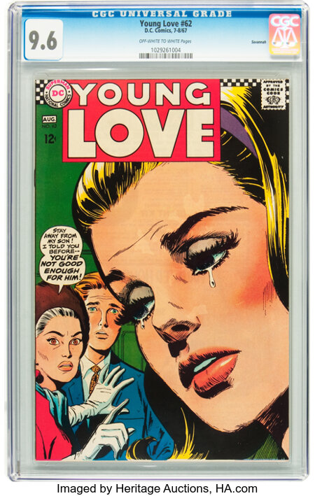 Young Love #62 Savannah pedigree (DC, 1967) CGC NM+ 9.6 Off-white to white pages....