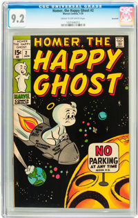 Homer, the Happy Ghost #2 Savannah pedigree (Marvel, 1970) CGC NM- 9.2 Cream to off-white pages