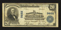 National Bank Notes:West Virginia, Fairmont, WV - $20 1902 Plain Back Fr. 652 The NB of Fairmont Ch. #9462. ...