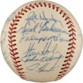 Autographs:Baseballs, 1970 Oakland A's Team Signed Baseball....