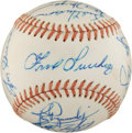 Autographs:Baseballs, 1976 Texas Rangers Team Signed Baseball....