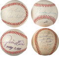 Autographs:Baseballs, Circa 1960's - 1980's Signed Baseballs Lot of 4 with Jim RiceSingle....