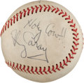 Autographs:Baseballs, Circa 1980 Harry Caray and Others Signed Baseball....