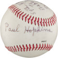 Autographs:Baseballs, Circa 2000 Paul Hopkins Single Signed Baseball...
