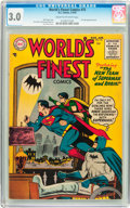 Golden Age (1938-1955):Superhero, World's Finest Comics #75 (DC, 1955) CGC GD/VG 3.0 Cream to off-white pages....