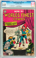 Golden Age (1938-1955):Superhero, World's Finest Comics #73 (DC, 1954) CGC GD/VG 3.0 Cream to off-white pages....