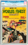 Golden Age (1938-1955):Superhero, World's Finest Comics #72 (DC, 1954) CGC GD/VG 3.0 Cream to off-white pages....