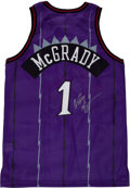 Basketball Collectibles:Uniforms, Tracy McGrady Signed, Game Issued Jersey....