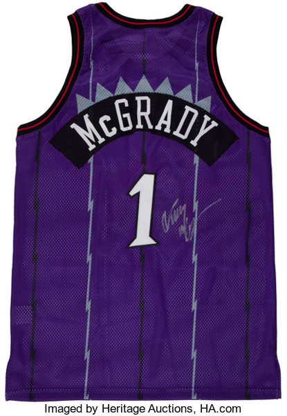 new style c774b 7faad Tracy McGrady Signed, Game Issued Jersey.... Basketball ...