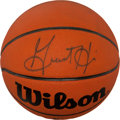 Basketball Collectibles:Balls, Grant Hill Signed Basketball....