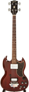 Musical Instruments:Bass Guitars, 1967 Gibson EB-3 Cherry Electric Bass Guitar, #119217....