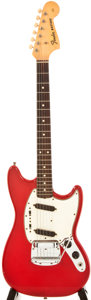 Musical Instruments:Electric Guitars, 1965 Fender Mustang Red Electric Guitar, #L89009....