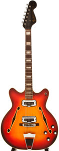 Musical Instruments:Electric Guitars, 1967 Fender Coronado II Cherry Sunburst Semi-Hollow Body ElectricGuitar, #502951....