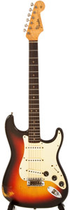 Musical Instruments:Electric Guitars, 1965 Fender Stratocaster Sunburst Electric Guitar, #L56850....