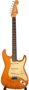 Musical Instruments:Electric Guitars, 1961 Fender Stratocaster Stripped to Natural Electric Guitar,#44422....
