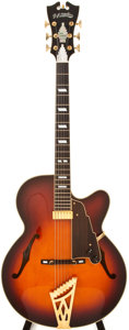 Musical Instruments:Electric Guitars, Recent D' Angelico NYL6 Sunburst Semi-Hollow Body Electric Guitar,#002060120....