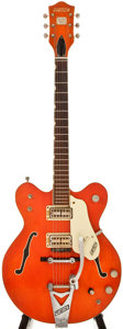 Musical Instruments:Electric Guitars, 1967 Gretsch Nashville Orange Semi-Hollow Body Electric Guitar, #47911....