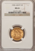 Liberty Half Eagles: , 1908 $5 MS65 NGC. NGC Census: (250/53). PCGS Population (174/36).Mintage: 421,874. Numismedia Wsl. Price for problem free ...