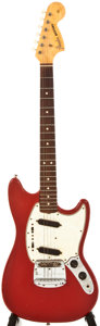 Musical Instruments:Acoustic Guitars, 1966 Fender Mustang Dakota Red Solid Body Electric Guitar, #156857....