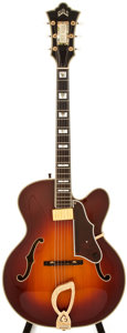 Musical Instruments:Acoustic Guitars, 1989 Guild AASB Sunburst Archtop Electric Guitar, #JA100263....
