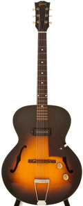 Musical Instruments:Electric Guitars, 1961 Gibson ES-125 Sunburst Archtop Electric Guitar, #6006....