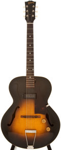 Musical Instruments:Acoustic Guitars, 1952 Gibson 125 Sunburst Archtop Electric Guitar, #Z3479....