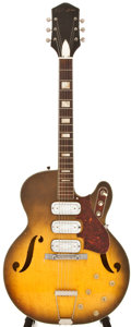 Musical Instruments:Acoustic Guitars, 1960s Silvertone F-62 Sunburst Electric Guitar, #515RU....
