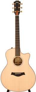 Musical Instruments:Acoustic Guitars, Modern Taylor 716CE-LTD Natural Acoustic Guitar, #1105250079....
