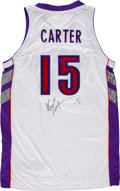 Basketball Collectibles:Uniforms, Vince Carter Signed, Game Issued Jersey....