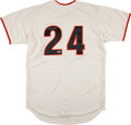 Baseball Collectibles:Uniforms, Willie Mays Signed Jersey....