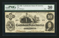 Confederate Notes:1862 Issues, Fully Framed T46 $10 1862.. ...