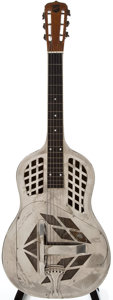 Musical Instruments:Acoustic Guitars, 1927-34 National Style 1 German Silver Resonator Guitar, #766....