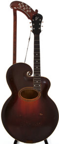 Musical Instruments:Acoustic Guitars, Early 1900s Gibson Harp Sunburst Acoustic Guitar, #N/A....