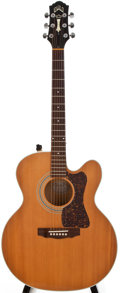 Musical Instruments:Acoustic Guitars, Modern Guild JF 30C Natural Acoustic Electric Guitar, #JF300543....