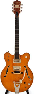 Musical Instruments:Electric Guitars, 1970 Gretsch Nashville Orange Archtop Electric Guitar, #11028....