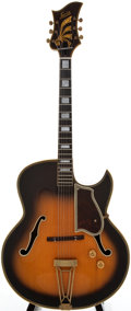 Musical Instruments:Electric Guitars, 1940s Levin Sunburst Archtop Electric Guitar, #NA.....