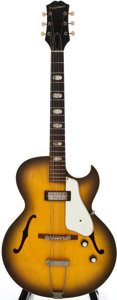 Musical Instruments:Electric Guitars, 1963 Epiphone E452T Sorrento Sunburst Archtop Electric Guitar,#126697....