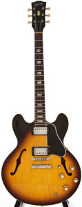 Musical Instruments:Electric Guitars, 1963 Gibson ES-335 Sunburst Archtop Electric Guitar, #158747....