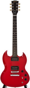 Musical Instruments:Electric Guitars, Modern Gibson SG Red Electric Guitar, #82525581....