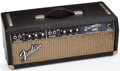 Musical Instruments:Amplifiers, PA, & Effects, Fender Bassman Black Amplifier Head, #A12547....