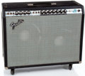 Musical Instruments:Amplifiers, PA, & Effects, 1970s Fender Twin Reverb Silver Face Guitar Amplifier, #B08126....