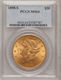 Liberty Double Eagles: , 1898-S $20 MS64 PCGS. PCGS Population (1211/89). NGC Census:(1015/103). Mintage: 2,575,175. Numismedia Wsl. Price for prob...