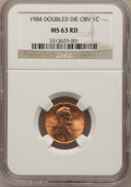 Lincoln Cents: , 1984 1C Doubled Die Obverse MS63 Red NGC. NGC Census: (9/341). PCGSPopulation (20/1031). Mintage: 8,151,078,912. Numismedi...
