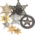 Movie/TV Memorabilia:Memorabilia, Eight Sheriff Badges, 1960s-1970s.... (Total: 8 )