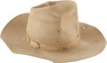 "Movie/TV Memorabilia:Costumes, A Cowboy-like Hat from ""Legend of the Lost.""..."