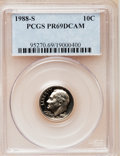 Proof Roosevelt Dimes: , 1988-S 10C PR69 Deep Cameo PCGS. PCGS Population (2064/104). NGCCensus: (253/59). Numismedia Wsl. Price for problem free ...