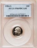 Proof Roosevelt Dimes: , 1984-S 10C PR69 Deep Cameo PCGS. PCGS Population (2493/154). NGCCensus: (377/56). Numismedia Wsl. Price for problem free ...