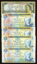 Canadian Currency: , Canadian $5's and More.. ... (Total: 11 notes)